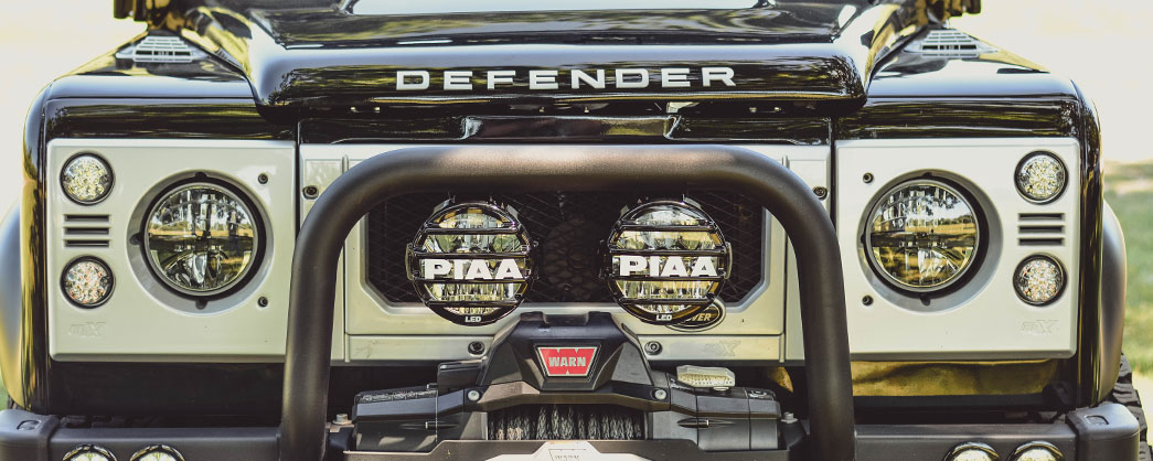 PIAA Land Rover Defender with PIAA LP570 LEDs