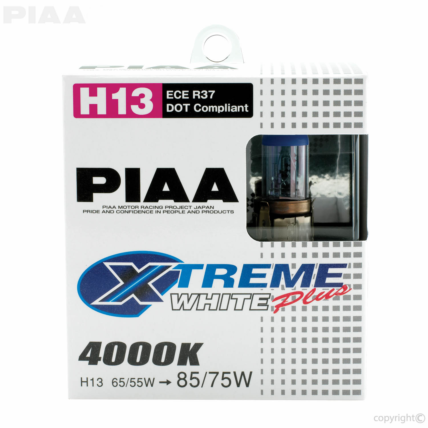 PIAA | H13 XTreme White Plus Twin Pack Halogen Bulbs #19618 H Bulb Wiring Diagram on h13 halogen replacement, car headlight bulbs wiring, headlight plug wiring, h13 hid, h13 headlight, h4 hid wiring, h13 light bulbs yellow, h13 9008 replacement bulbs, h13 conversion harness, h13 connector, h13 female, h13 bulbs green,
