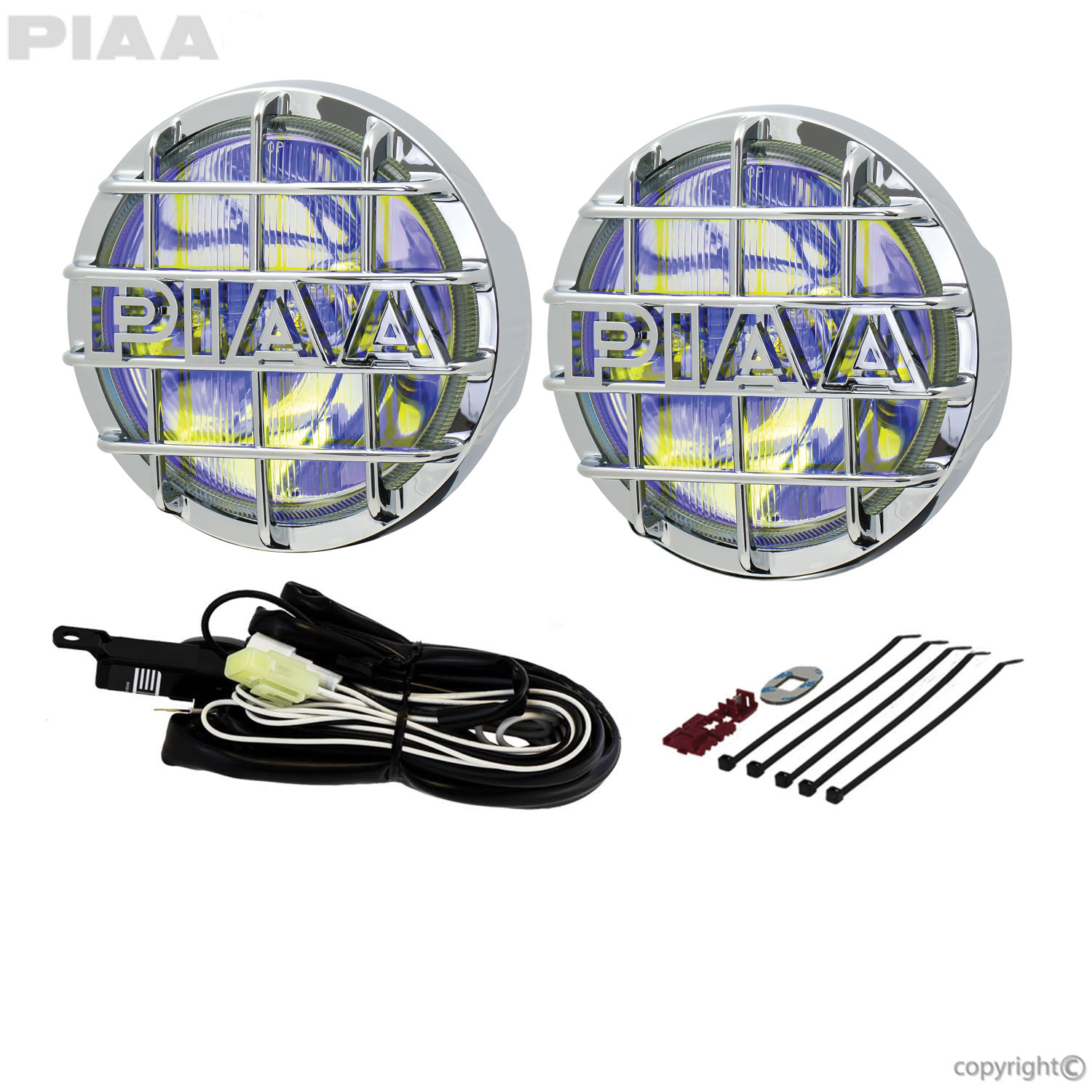 520 Chrome Ion Yellow Driving Halogen Lamp Kit - 05263