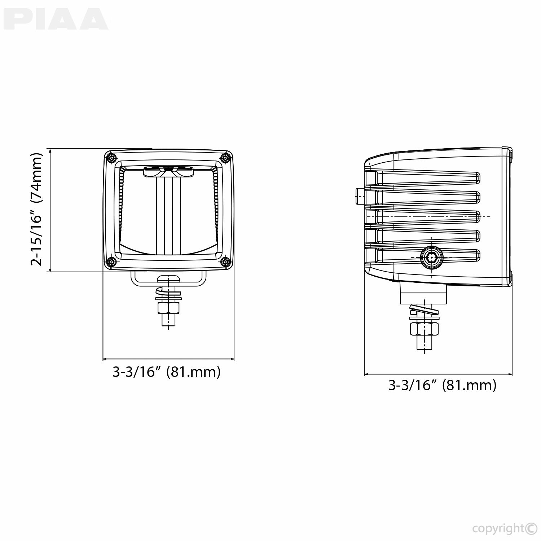 piaa rf series 3 led cube light driving beam kit sae compliant 7603 rh piaa com PIAA Super White PIAA 540