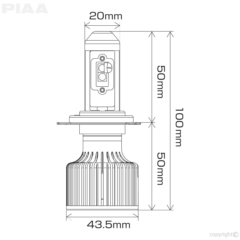 H4 9003 High Output Led Bulbs 6000k Twin Pack 9004 Headlight Wiring Diagram Piaa Bulb Line Art