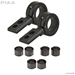 360 Black Universal Mounting Bracket Kit, Fits 0.75"