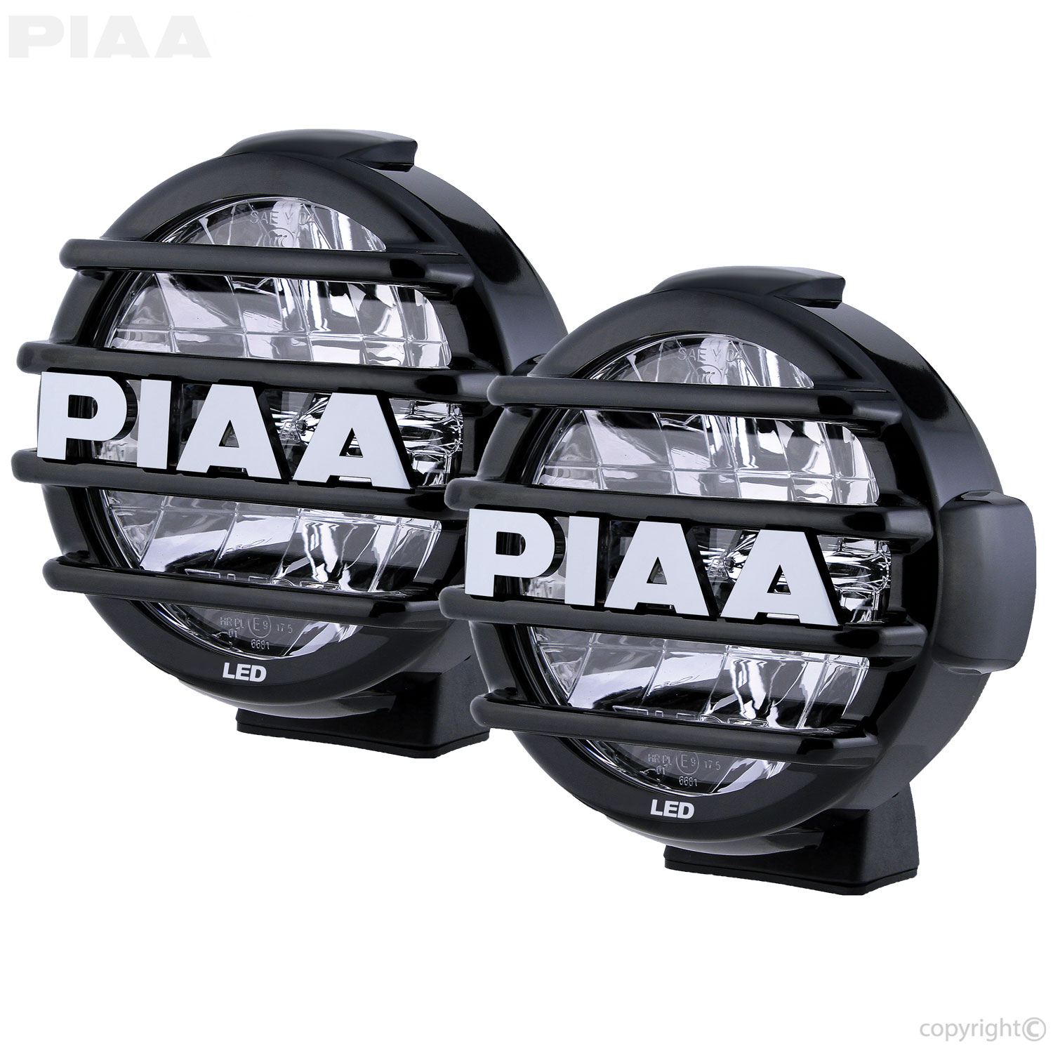 Piaa Atv Utv Lights Driving Fog Light Wiring Diagram Lp570 7 Led Kit Sae Compliant Lamps