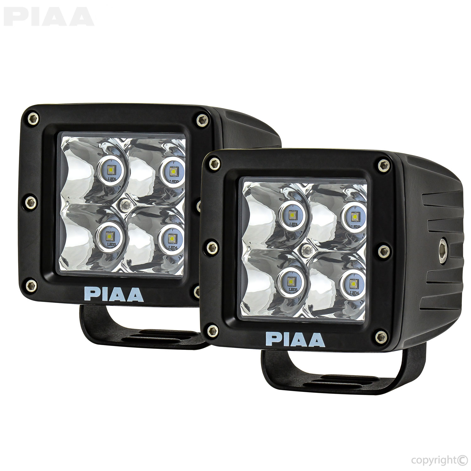 Quad Series Wiring Diagram Trusted Diagrams Cobra 50 Atv Piaa Spot Beam Led Cube Lights W Harness 26 06603