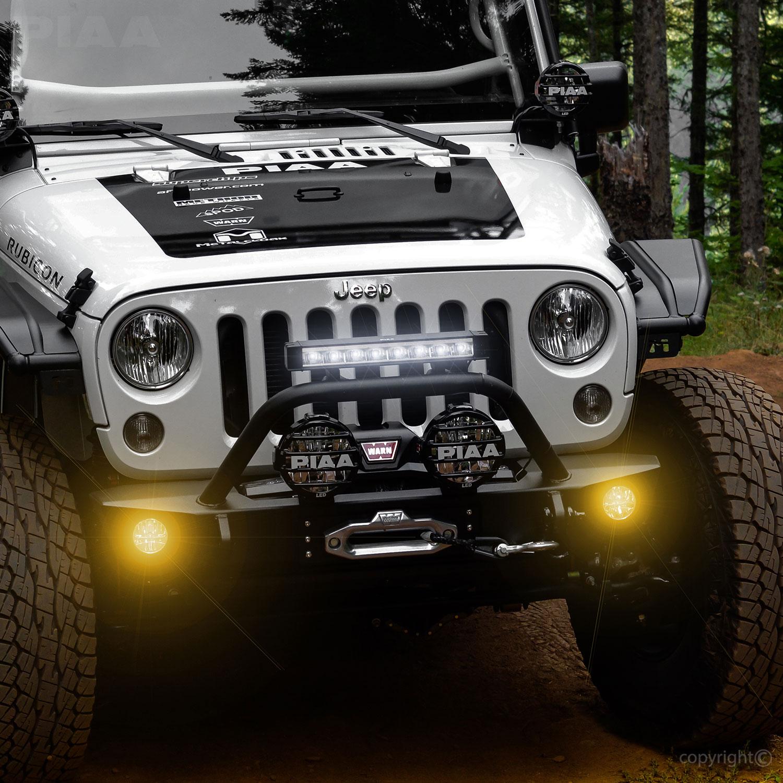Jeep Tj Windshield Lights Wiring Piaa Wrangler Jk 2010 2018 530 Ion Yellow Led Driving Light Vsk 22
