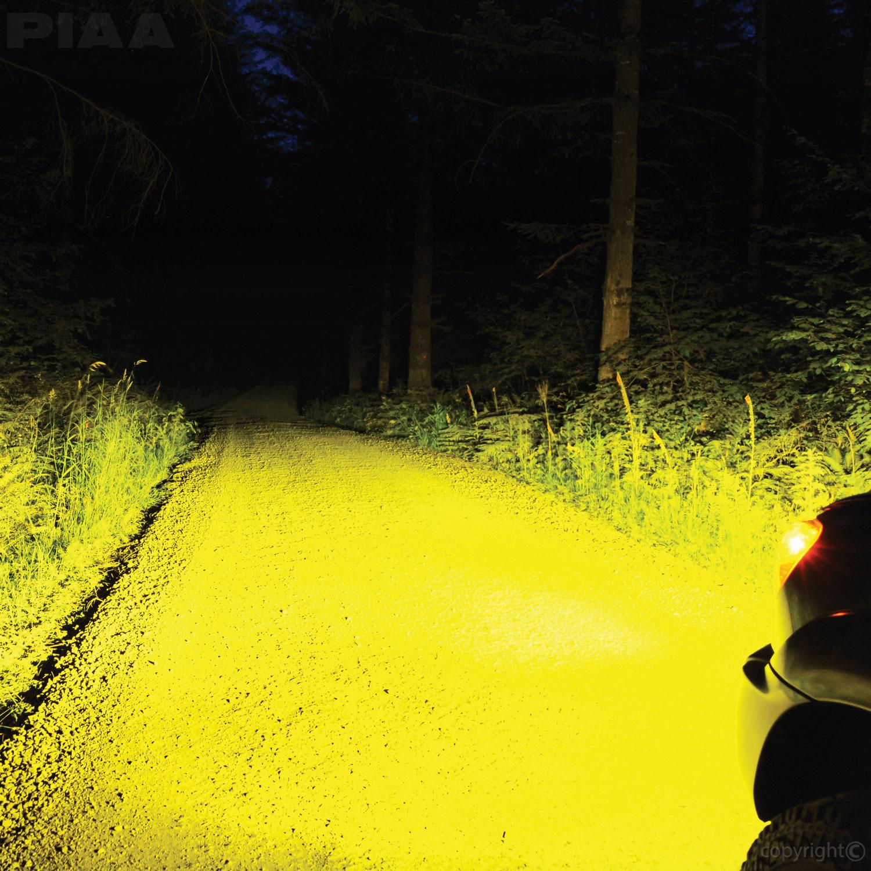 PIAA 9006 Yellow LED Bulbs Tacoma Fog Lights Output