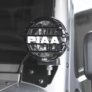 "PIAA Jeep Wrangler JK 2007-2016 LP550 5"" LED Driving Light Pillar Mount Kit SAE Compliant"