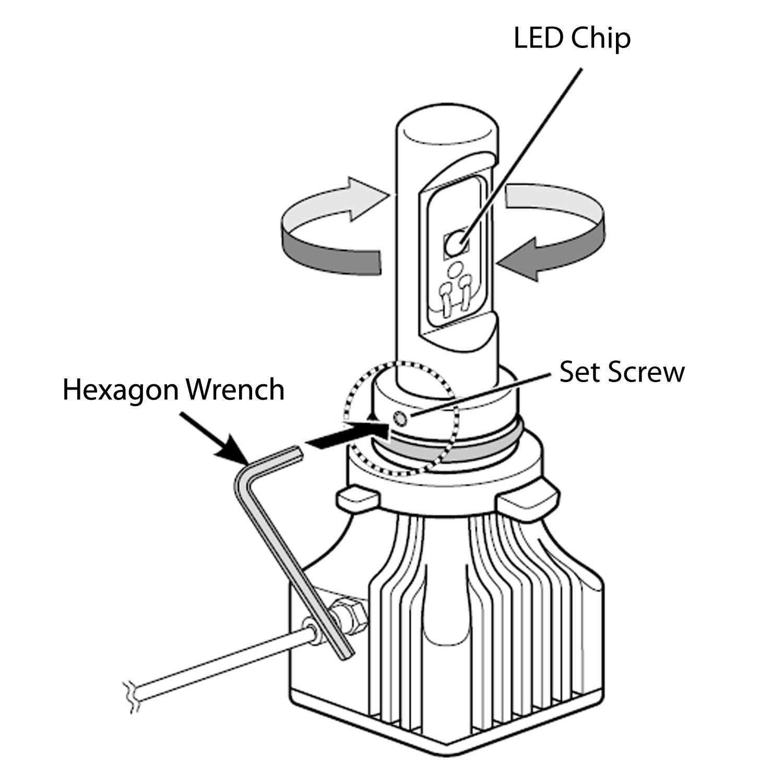 Piaa H8 High Output Led Bulbs 6000k Twin Pack 17202 H8