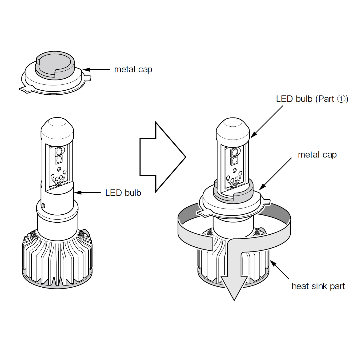 H4  9003  High Output Led Bulbs 6000k Twin Pack