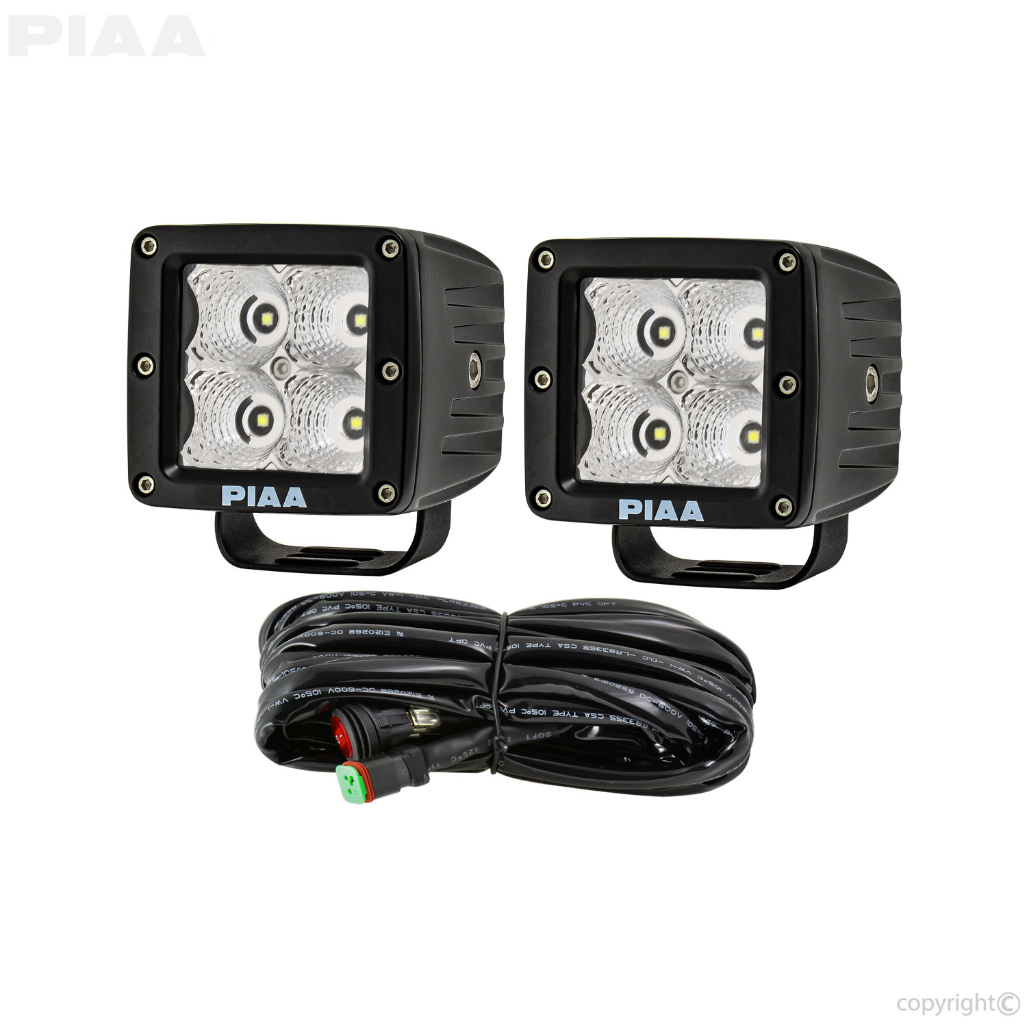 PIAA Quad LED Cube Lights Contents