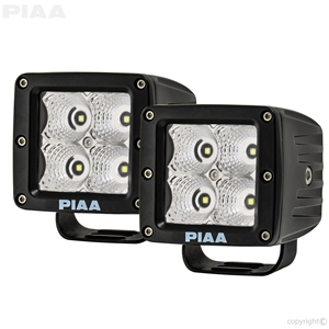 Quad Series Flood Beam LED Cube Lights w/ Harness