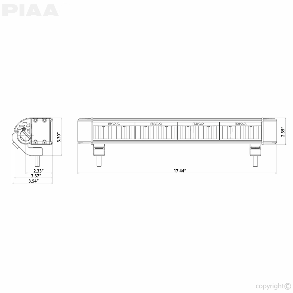 Piaa Rf18 18 White Wide Driving Hybrid Beam 26 07118 Light Wiring Kit