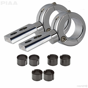 360 Chrome Universal Mounting Bracket Kit, Fits 0.75"