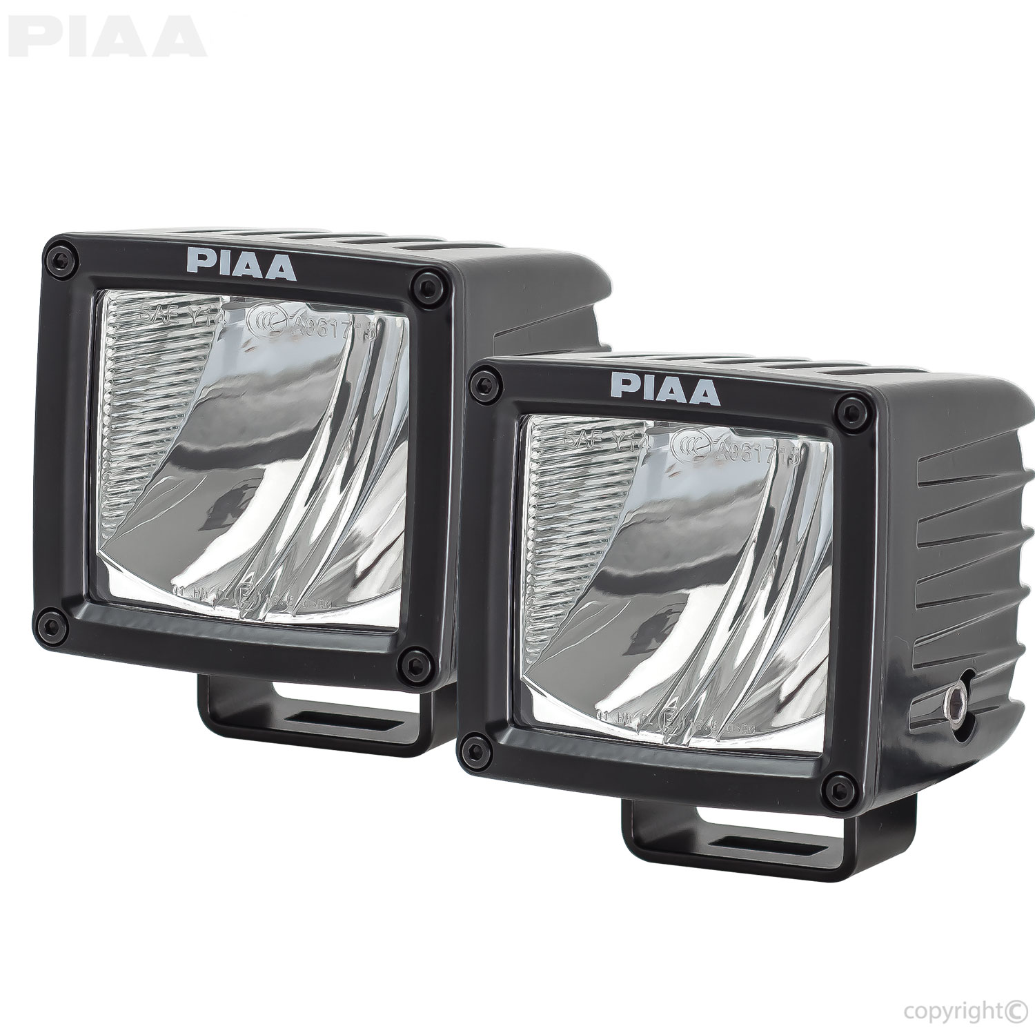 Piaa Atv Utv Lights Driving Fog Light Wiring Diagram Rf Series 3 Led Cube Beam Kit Sae Compliant