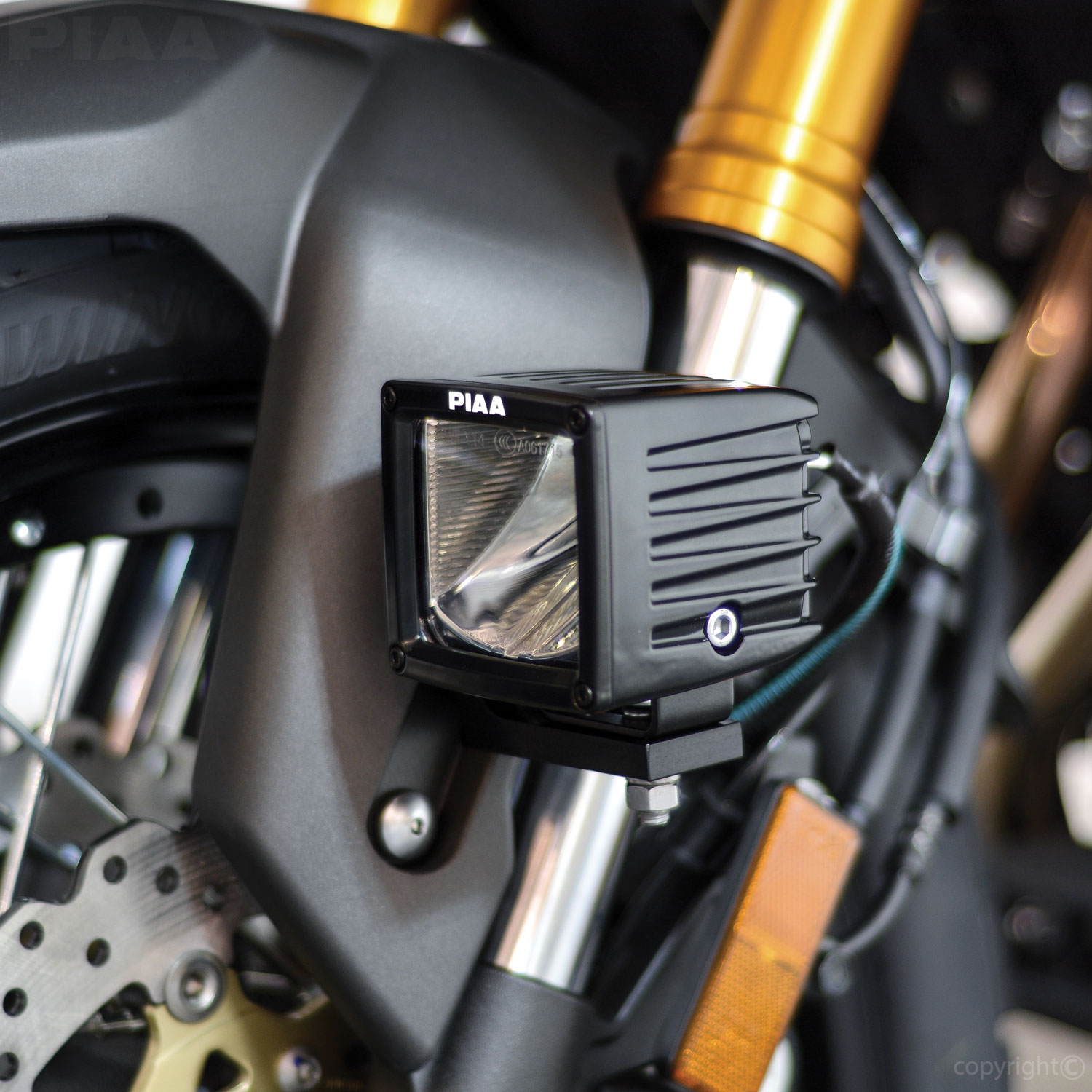 Piaa M6 Lower Fork Mount Kit With Quot L Quot Bracket For Lp530